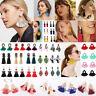 Fashion Women Bohemian Dangle Long Tassel Thread Drop Ear Stud Earrings Jewelry