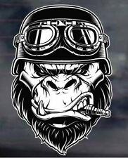 Gorilla -biker-helmet-motorcycle--sticker-decal-car-,-laptop,-bike,-skateboard,