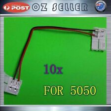 10x 8mm PCB Board With Wire for 3528 LED Strip Dual Joint Clip Connector Adapter