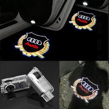 2x LED Audi gold Logo Door  laser Projector light For AUDI A4 A3 A6 A7 Q5 Q7 R8