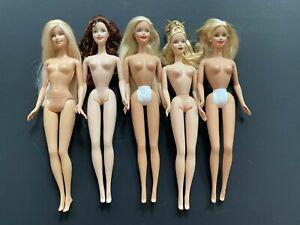 Lot of Late 1990s Early 2000s Barbie Mattel Dolls Nude TNT