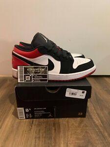 Jordan 1 Low Chicago Black Toe 553558-116 - Size 8.5 (FAST SHIPPING)