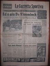 LA GAZZETTA SPORTIVA  23/5/1976  Giro Italia  De Vlaeminck vince a Caltanissetta