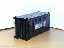 LEGO MAERSK LINE TRAIN SHIP SHIPPING CONTAINER BLACK (GREY LABEL)