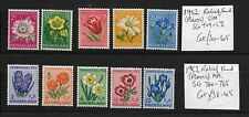 """Mint Netherlands """"Relief Fund - Flowers"""" Stamps, 1952 & 1953"""