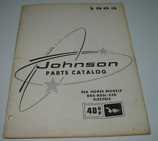 Parts Catalog Johnson Sea Horse Models RDS RDSL 25D Electric 40 HP Stand 1963!