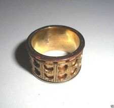 Handmade wide band style spin ring gold tone .