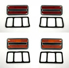 Chevy / GMC Pickup Truck Front Rear Side Marker Set Red/ Amber Chrome Trim 68-72