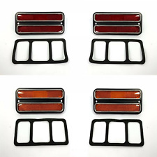 Set (4) Red & Amber Deluxe Side Marker Lights for 1968-72 Chevy Truck