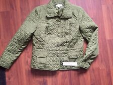 NEW Laura Ashley Woman's  Olive Light Weight Snap Jacket Size Med