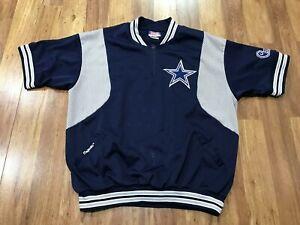 MENS XL - Vtg 90s NFL Dallas Cowboys Majestic Sewn 1/2 Zip Jersey Shirt USA