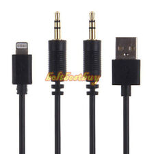 Y Cable Adapter USB AUX Interface for BMW for BMW MINI COOPER iPhone 5/5S iPad