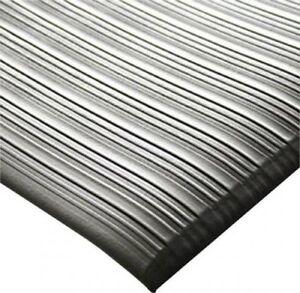 Arbeitsplatzmatte Orthomat® Ribbed, grau 600 x 900 mm