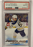 2019/20 UPPER DECK YOUNG GUNS VICTOR OLOFSSON PSA 10 SABRES 207 ROOKIE RC