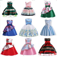 Flower Girl Princess Dress Kids Party Wedding Bridesmaid Formal Tutu Gowns cute