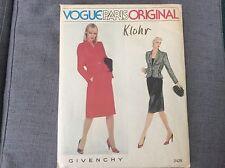 Vtg Vogue Paris Original Givenchy Skirt & Blazer Pattern Uncut - Womens Size 12