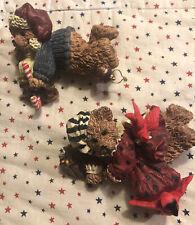 Boyds Bears Shelf Sitters Candy Cane & Red Birds Cardinals