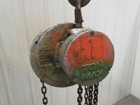 CM Cyclone S 1 Ton Manual Chain Fall Hand Pull Hoist 13' Lift 2000 LB Capacity
