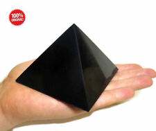 Shungite Schungit Polished Pyramid 100mm crystal minerals Healing Protection