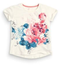 ВNWT NEXT Tops Tunic • Ecru Floral T-Shirt with Jewels • 100% Cotton • 3 Years
