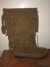 Sexy Cowgirl Fringe Moccasins Boots