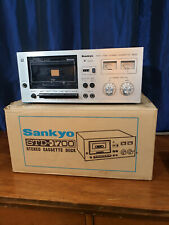 New ListingVintage Sankyo Std-1700 15W Single Stereo Cassette Deck Working With Orig. Box