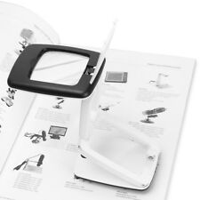 2018 Foldable Desk LED Clamp Mount Magnifier Lamp Light Magnifying RANDOM