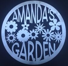 "Custom Name Garden Sign 23.5"" Metal Personalized"