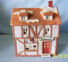 Christmas Village Collection - Lighted Christmas Village Town Hall Porcelain