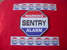 SENTRY HOME ALARM SECURITY SIGN + 12 DECALS -- A Name to Trust for Home Security