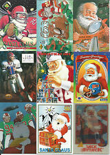 1994 NFL 11-card Christmas Set  Santa Claus Jim Kelly  1-card each most brands