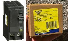 Qo280 Square D Plug-in Circuit Breaker 80 Amp 120/240V 2-Pole New in Box