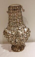 DEALER-RITA Antique Bronze Crystal Beaded French Empire Chandelier Wall Sconce