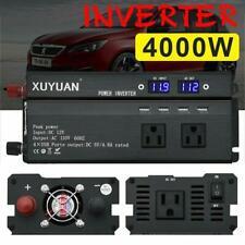 5000W Car Power Inverter DC 12V To AC 110/220V Charger Converter &USB Port