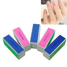 Polished 5 Pcs Nail Art Manicure 4 Way Shiner Buffer Buffing Block Sanding File