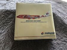 Malaysia Airlines Boeing 747-400 Hibiscus Diecast Model 1:400. NIB Still Wrapped