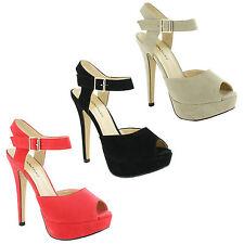 Stiletto Peep Toes Evening Unbranded Women's
