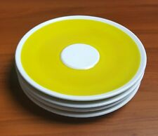 Vera Neumann for Mikasa Set of 4 Vintage Crocus Bright Yellow and White Saucers