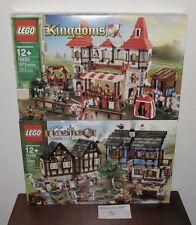 NEW SEALED LEGO 10193 10223 CASTLES MEDIEVAL MARKET VILLAGE KINGDOMS JOUSE 2SET