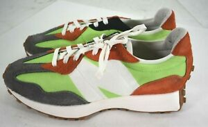 New Balance 327 Lime Green Orange Grey Size 13 MS327SFA Lace Up Sneakers Shoes