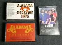 3 Vintage Alabama Cassette Tapes 1983-1986 Greatest Hits, Christmas, Closer You.