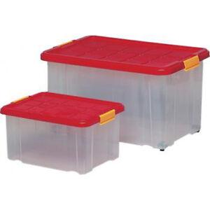 Rival Eurobox mit Deckel 60 x 40 x 30cm Aufbewahrung Kiste Box Stapelbox Plastik