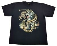 Vintage Singapore Dragon Glow In The Dark Tee Black Size XL Mens T Shirt GID