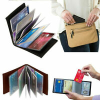 Amazing Slim RFID Wallets Black Leather Lock Wallets Sale Hot Y5J3