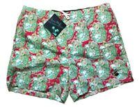 NEW Southern Proper Cotton Paisley Floral Pink Mens Swim Trunk Shorts XL 38-40