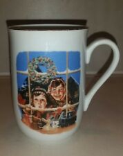 """NORMAN ROCKWELL """"HIGH HOPES"""" 4"""" CHRISTMAS COFFEE MUG 1985 Certified Authentic"""
