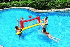 Juegos de piscina. 3 Juegos Hinchables baloncesto + Voley+ Frisbee