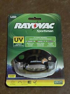 RAYOVAC LED Sportsman 3 Modes, Hat UV Light, SPCLPUV-B, 5 Pivoting Positions NEW