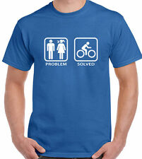 Cycling T-Shirt Mens Funny Bike Mountain BMX Racer Road Jersey Problem Solved
