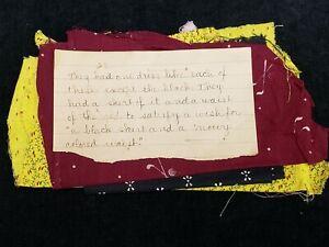 BEST Vintage Cotton Quilt Fabric Scraps Prints Remnants c1910 w Provenance